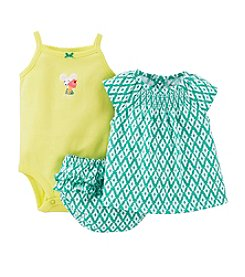 Carter's® Baby Girls' 3-Piece Geometric Print Diaper Cover Set