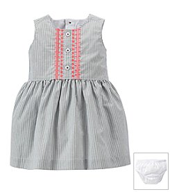 Carter's® Baby Girls' Poplin Embroidered Dress