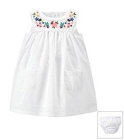 Carter's® Baby Girls' Poplin Embroidered Dress