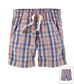 Carter's® Baby Boys' Pull-On Plaid Poplin Shorts