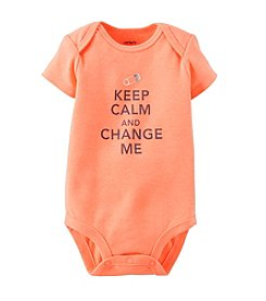 Carter's® Baby Boys' Keep Calm And Change Me Bodysuit