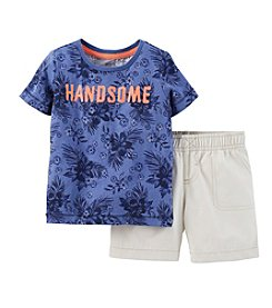 Carter's® Baby Boys' 2-Piece Jersey Top & Canvas Shorts Outfit Set