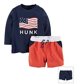 Carter's® Baby Boys' 4th Of July 2-Piece Swim Top & Trunks Set