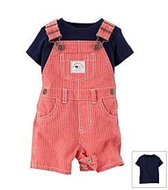 Carter's® Baby Boys' 4th Of July 2-Piece Tee & Canvas Shortalls Set