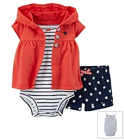 Carter's® Baby Girls' 4th Of July 3-Piece French Terry Cardigan Set