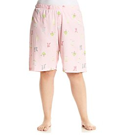 HUE® Plus Size Singin' In The Rain Bermuda Shorts