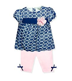 Baby Essentials® Baby Girls' 2-Piece Chain Link Outfit Set