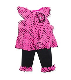 Baby Essentials® Baby Girls' 2-Piece Polka Dot Outfit Set