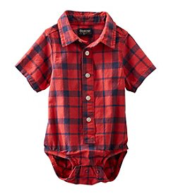 OshKosh B'Gosh® Baby Boys' Plaid Button-Front Bodysuit