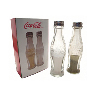 Sunbelt Coca-Cola® Glass Salt and Pepper Shakers with Em