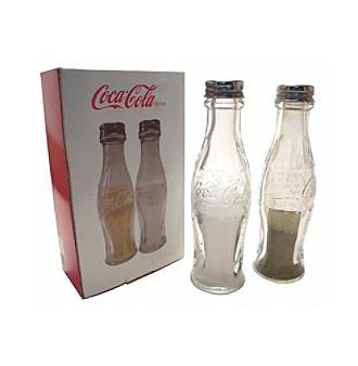 coca cola glass salt pepper