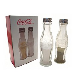 Sunbelt Coca-Cola® Glass Salt and Pepper Shakers with Embossed Cola-Cola Script