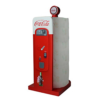 Sunbelt Coca-Cola® Wood Vending Machine Paper Towel Hold