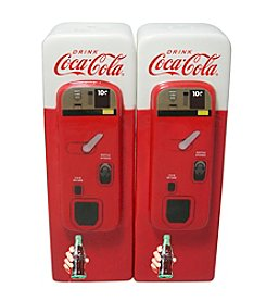 Sunbelt Coca-Cola® Ceramic Vending Machine Salt and Pepper Shakers