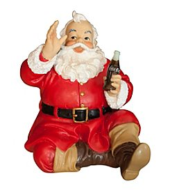 Sunbelt Coca-Cola® Sundblom Santa Sitting Resin Figurine