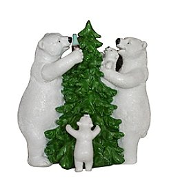 Sunbelt Coca-Cola® Polar Bear Family with Tree Figurine
