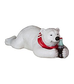 Sunbelt Coca-Cola® Polar Bear Lying on Front Figurine