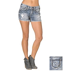 Silver Jeans Co. Aiko Destructed Mid Jean Short