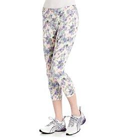 Kensie® Performance Printed Run Crop Leggings