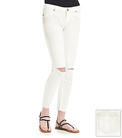 Hippie Laundry White Knit Ankle Skinny Jeans