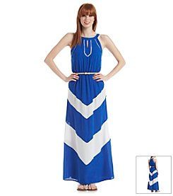 Sequin Hearts® Chevron Maxi Dress