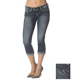 Silver Jeans Co. Suki Super Stretch Cuff Capri