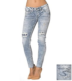Silver Jeans Co. Aiko Mid Rise Ankle Skinny Jean