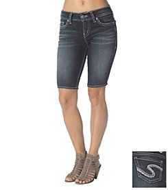 Silver Jeans Co. Suki Mid Rise Super Stretch Bermuda Short