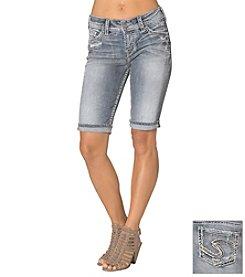 Silver Jeans Co. Suki Mid Rise Cuffed Bermuda Shorts