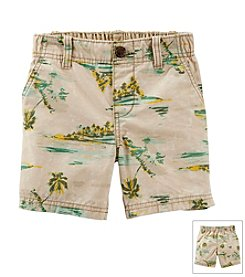 Carter's® Boys' 2T-7 Tropical Print Canvas Shorts