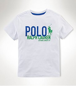 Ralph Lauren Childrenswear Boys' 2T-20 Short Sleeve Graphic Tee