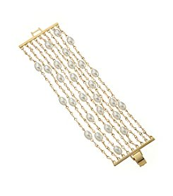 Lauren Ralph Lauren Goldtone Pretty In Pearls Nine Row Pearl Bracelet