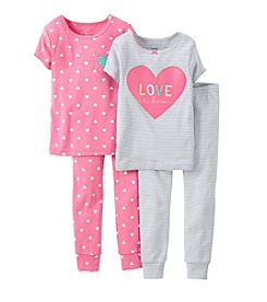 Carter's® Girls' 2T-4T 4-Piece Snug-Fit Cotton Pjs