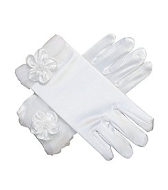 Bonnie Jean® Girls' Glove With Organza Flower