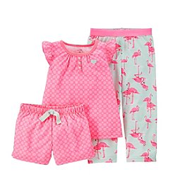 Carter's® Baby Girls' 3-Piece Jersey Pjs