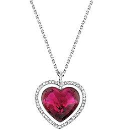 Swarovski® Silvertone Ballet Pendant Necklace