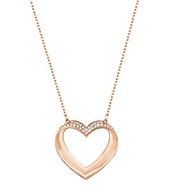 Swarovski® Rose Goldtone Cupidon Pendant Necklace