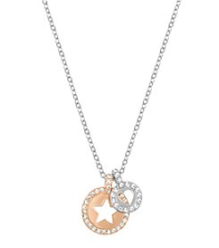 Swarovski® Two-Tone Crocus Pendant Necklace