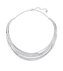Swarovski® Silvertone Cypress Torque Necklace