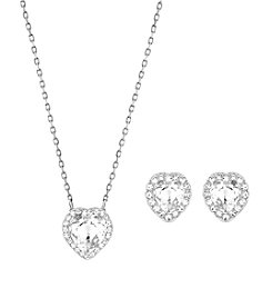 Swarovski® Silvertone Cyndi Necklace and Earrings Set