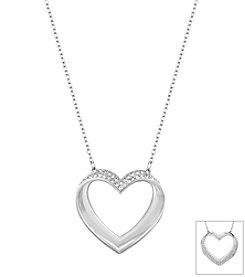 Swarovski® Silvertone Cupidon Pendant Necklace