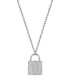 Swarovski® Silvertone Case Pendant Necklace