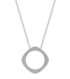 Swarovski® Silvertone Vio Pendant Necklace
