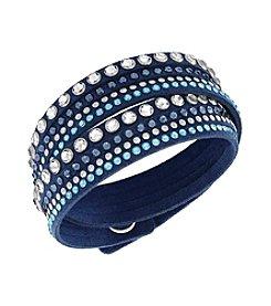 Swarovski® Silvertone Slake Denim Blue Rock Bracelet