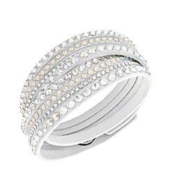 Swarovski® Silvertone Slake White Deluxe Bracelet