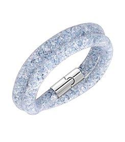 Swarovski® Silvertone Stardust Grey Double Bracelet
