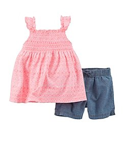 Carter's® Girls' 2T-6X Flutter Sleeve Top With Shorts Set