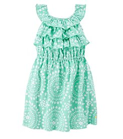 Carter's® Girls' 2T-6X Ruffle Mint Dress
