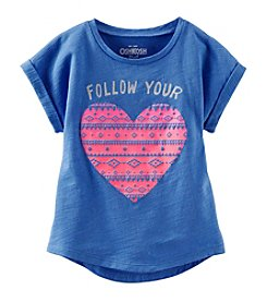 OshKosh B'Gosh® Girls' 2T-6X Safari Heart Tee