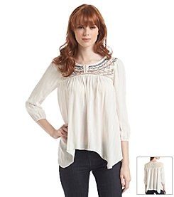 Jolt® Embroidered Peasant Top